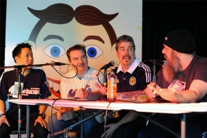 """Of Clerks and Comic Book Men"" panel at Asbury Park Comic Con 2013 - Photo by Kendall Whitehouse"