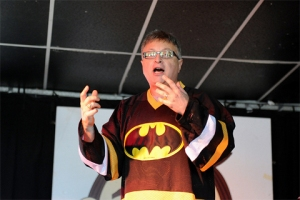 Michael Uslan at Asbury Park Comic Con 2013 - Photo by Kendall Whitehouse