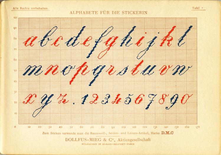 Alphabete für die Strickerin - plate 01