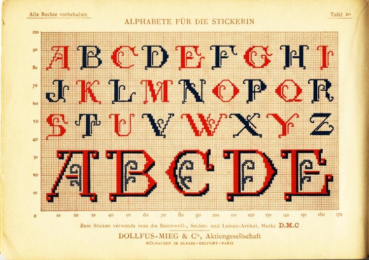 Alphabete für die Strickerin - plate 20