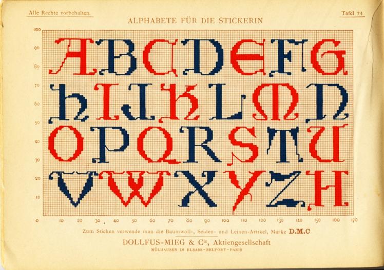 Alphabete für die Strickerin - plate 24