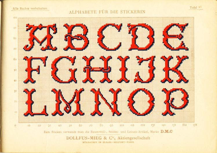 Alphabete für die Strickerin - plate 25
