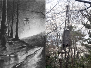 War of the Worlds Martian Machine and Grovers Mill Water Tower