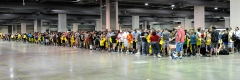 The general attendance line waiting to enter Wizard World Philadelphia Comic Con