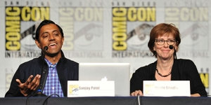 SDCC-2015-Sanjay-Patel-and-Nicole-Grindle-photo-by-Kendall-Whitehouse-480x240