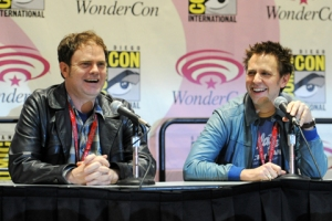 Rainn-Wilson-and-James-Gunn-01-WonderCon-2011-photo-by-Kendall-Whitehouse-480x320