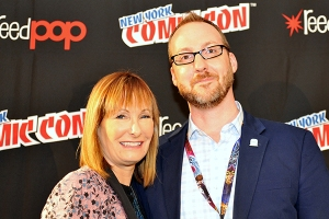 Gale Anne Hurd and Aaron Mahnke - New York Comic Con 2016. Photo
