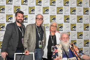 Charles-Brownstein-Robert-Williams-Joyce-Farmer-Ron-Turner-SDCC-2018-photo-by-Kendall-Whitehouse-750x500