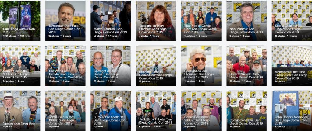 Comic-Con photo albums.