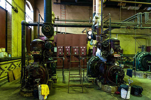 Frick ammonia compressors in the Philly Cold Power House.