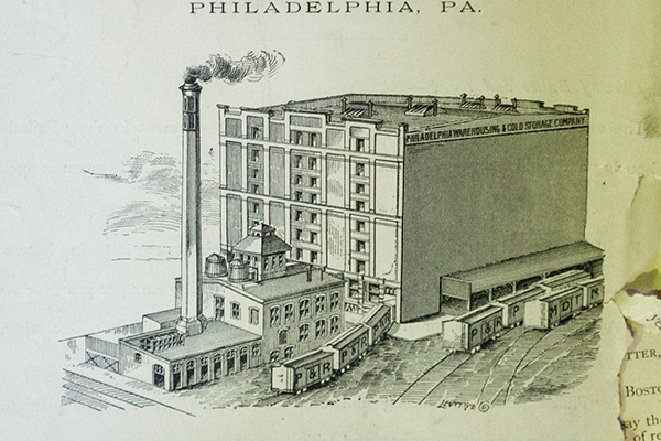 Early illustration showing the Philly Col Power House and Building A.